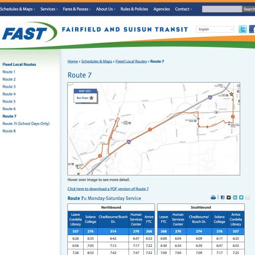 Route 7 « FAST Transit